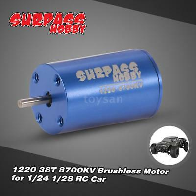 SUPERPASS HOBBY 1220 38T 8700KV Brushless Motor für 1/24 1/28 RC Auto C2T9