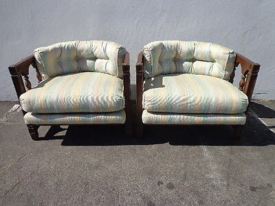 2 Chairs Vintage Barrel Set Chairs Loungers Armchair Accent Chair Seating Wood