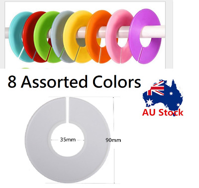 32 Blank COLOR Writable Plastic Shop Clothing Rack Round Size Divider Ring Plate