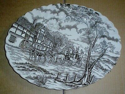 Myott Of Staffordshire ROYAL MAIL Oval Platter Steak Plate Brown And White