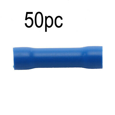 50X Insulated Electrical Wire Cable Terminal Crimp Connectors BV2 Blue