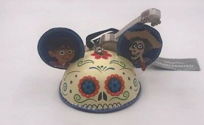 NEW Disney Parks Pixar CoCo Guitar Sugar Skull Ear Hat Christmas Ornament