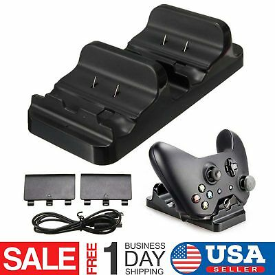 XBOX ONE Dual Dock Charging Station Controller Charger And 2 Extra Battery Packs