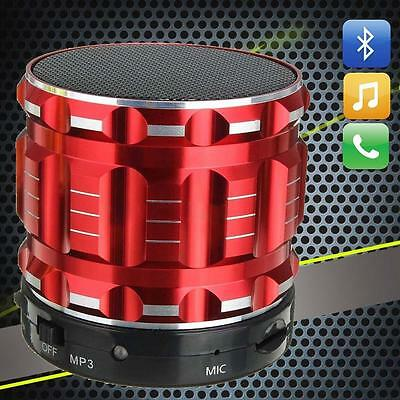 SUPER BASS WIRELESS MINI BLUETOOTH PORTABLE SPEAKERS FOR IPHONE IPAD PC Red TR