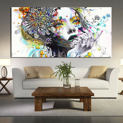 Retro Abstract Painting For Modern Living Room Wall Decor Art Girl Picture