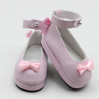 1 Pair 6cm pink doll princess shoes for BJD dolls 1/6 dolls Accessories  I