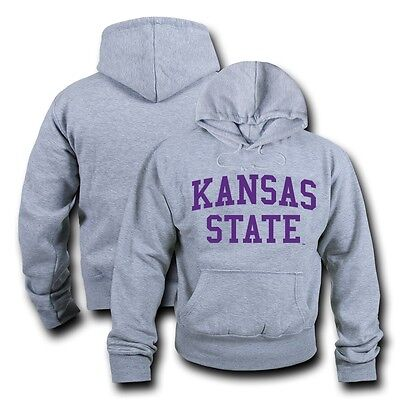 NCAA Kansas State Universidad Sudadera con Capucha Game Day Polar Gris