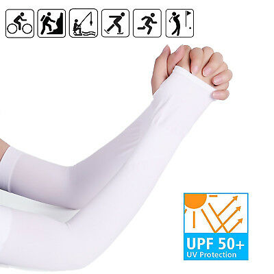 Ice Silk Unisex UV Protection Sleeves Arm Cooling Sleeves Arm Sleeves Arm Covers