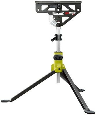 Rockwell Saw Horse Stand 33 in. Compact Foldable Adjustable Built-in Clamp Steel