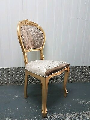 French Louis Style Vintage Deco Boudior Bedroom Chair Antique Shabby Chic Dining