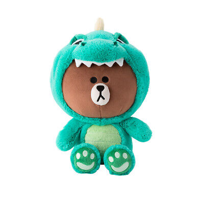 Line Friends Official Goods Character Plush Doll Dino Brown Dinosaur 25cm 10inch