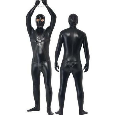 halloween Men Gimp Suit Costume Funny Comedy Stag Night Fancy Dress Adult Outfit