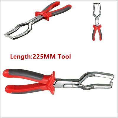 Red 225MM Fuel Line Petrol Clip Pipe Hose Release Disconnect Removal Plier Tool@