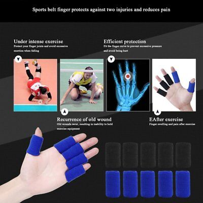 10pcs/pack Basketball Volleyball Sports Fingerstall Safety Elastic Finger CCL