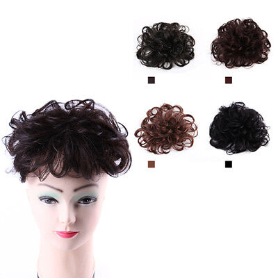 15cm Clip In Fluffy Curly Hair Piece Top Topper Toupee Wigs Real Remy Human Hair