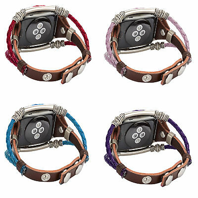 New For Fitbit Versa Tracker Leather Replacement Watch Wrist band Bracelet Strap