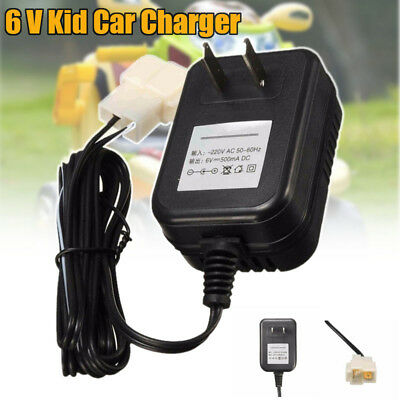 DC 6V 700mA Battery Charger Adapter For Electric Kids Ride on Car Bike Toy