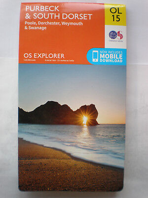 Ol 15 Purbeck & South Dorset  Explorer Inc Download, Ordnance Survey Map, Os