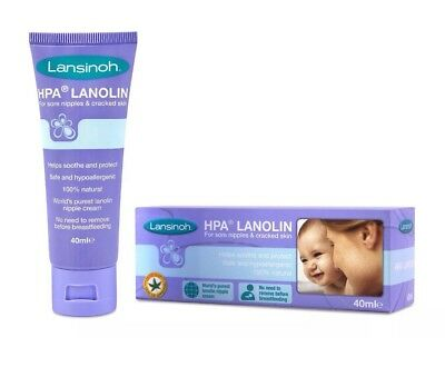 Lansinoh HPA Lanolin Nipple Cream 40ml  Sore Nipples & Cracked Skin Brand New