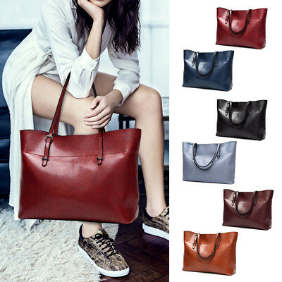 Luxury Womens Girls Handbag Shoulder Bags Tote PU Leather Purse Crossbody Large