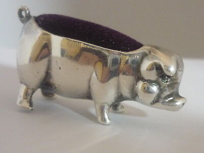 Stunning Vintage/Antique Sterling Silver Pig Pin Cushion