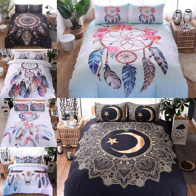 Dreamcatcher Duvet Doona Quilt Cover Set Indian Bedding Set Queen King Size Bed>