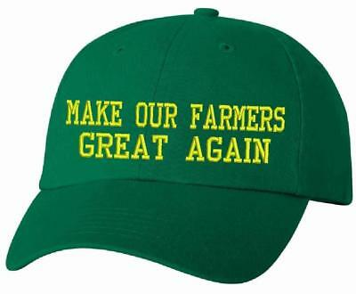 c1ee0688 Donald Trump Make Our Farmers Great Again America VC300 Adjustable Green Hat  Lot