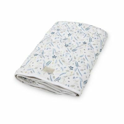 Baby Blanket - Pressed Leaves Blue baby kids nursery quilt blanket duvet doona