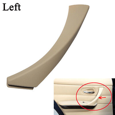 1x Beige Left Inner Door Panel Handle Pull Trim Cover For BMW E90 3-Series Sedan