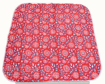 New Indian Traditional Blanket Block Print Cotton Ethnic Throw Bedding Bedspread