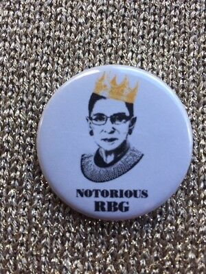 Ruth Bader Ginsburg (Notorious) 1 1/2 in. Pin-Back Button SHIPS FREE