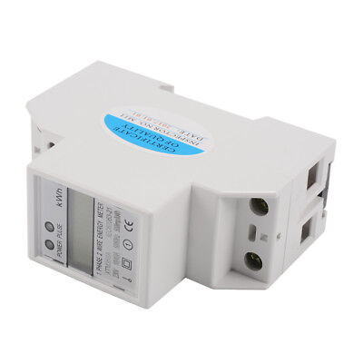 10(40)A 230V 50Hz Energy Meter Electricity Single Phase Din Rail KWh LCD TE747