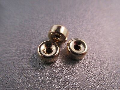 14K Gold Filled Smooth Roundel Bead Spacer 8mm 3pcs