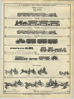 1908 Paper Ad Kenton Cast Iron Floor Train Lake Shore And Michigan Southern Toy