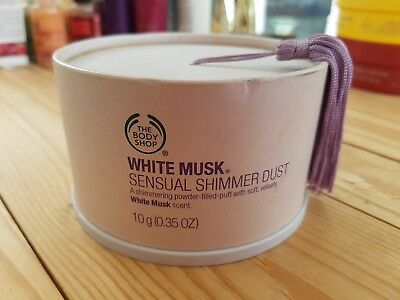 The Body Shop White Musk Sensual Shimmer Dust 10g Discontinued Body Powder