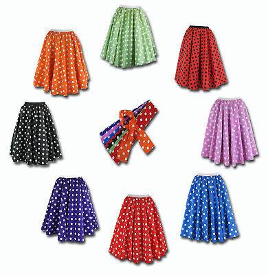 Rock and Roll Polka Dot Skirt - 2nds - small defect on fabric print or fading UV