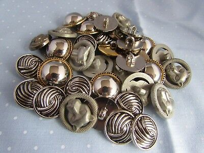Silver Button Assortment Mixed Buttons in Packs of 10, 20, 50 or 100
