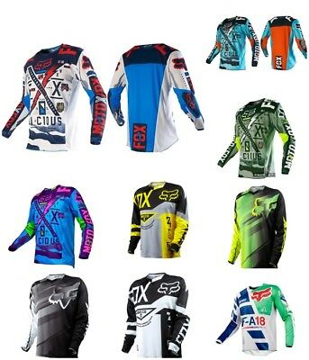 NEW Motocross Jersey FOX Extreme Sports Off Road Clothing Quick Dry
