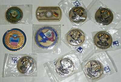 U.S. MILITARY CHALLENGE COIN LOT Army Golden Knights Navy Kuwait Asia Texas