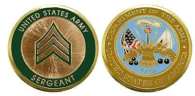 """Army ENLISTED RANKS -Sergeant """"E5'' Challenge Coin"""