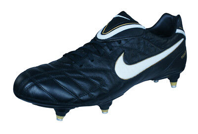 f6ed4daf694 Nike Tiempo Legend III SG Mens Leather Soccer Cleats   Football Shoes -  Black