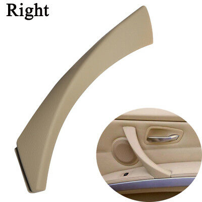 Right Inner Door Panel Handle Outer Trim Cover Beige For BMW E90 3-Series Sedan