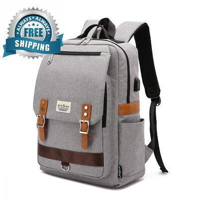 Professional Slim Vintage Laptop Backpack,Casual Durable School College...