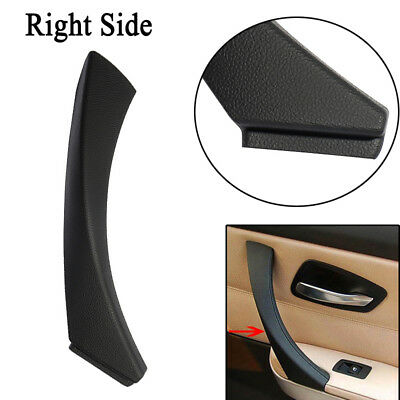 Black Right Inner Door Panel Handle Pull Trim Cover For BMW E90 3-Series Sedan
