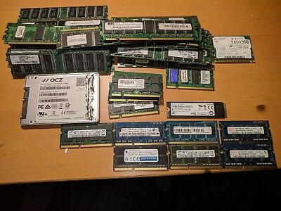 Sandisk ssd ram ddr2 ddr3 x300s 128gb for parts not working bundle