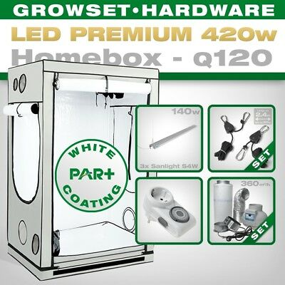 LED Grow Set Homebox Ambient Q120 + 3x S4W, 420W