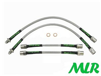 Peugeot 106 Xsi Gti Stainless Steel Braided Brake Lines Hoses Pipes Kit Or