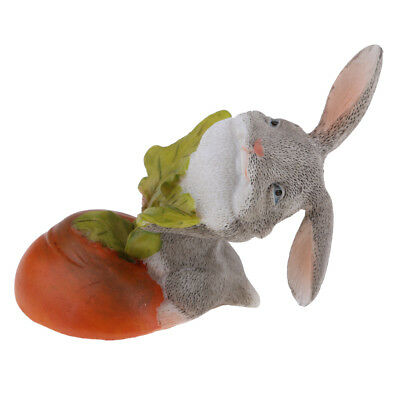Resin lovely rabbit Hand Painted simulation model Figurine Statue 6.5cm
