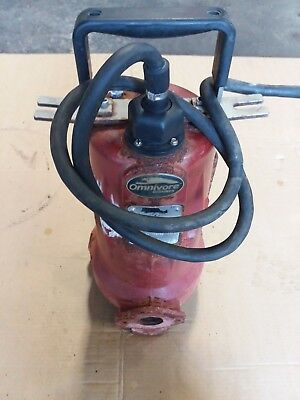 Grinder Pump, LIBERTY model LSG203M , 2 HP, 208-230 Voltage. Omnivore Rusty