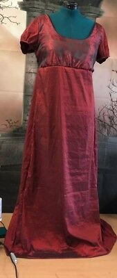 Regency Style Red Ball Gown Paisley And Taffeta